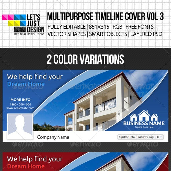 Multipurpose Facebook Timeline Cover Vol 3