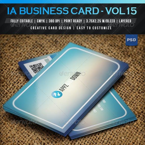 IntenseArtisan Business Card Vol.15
