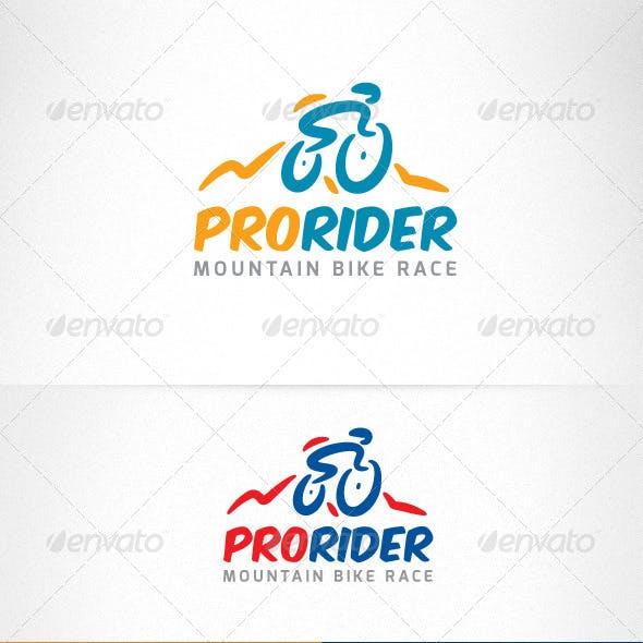 Mountain Sport Bike Race Creative Logo