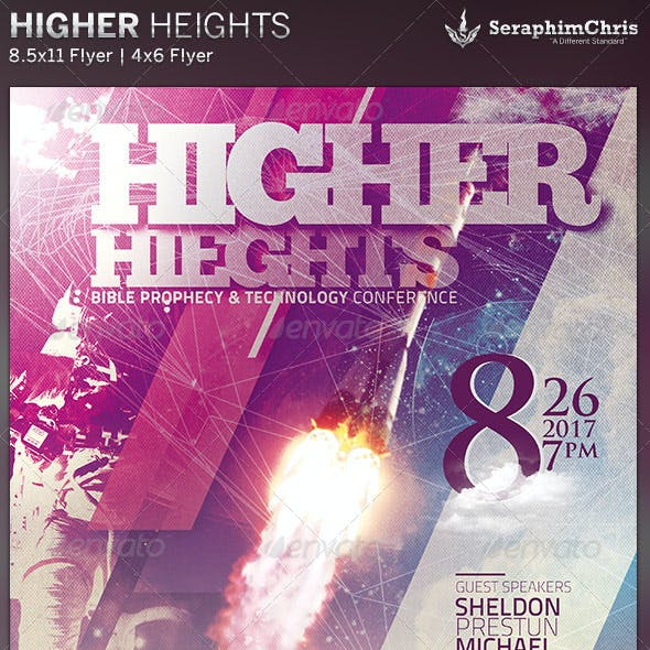 Higher Heights: Church Conference Flyer Template