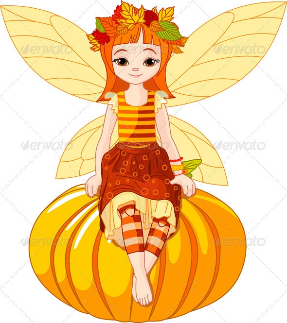 Autumn fairy girl - People Characters