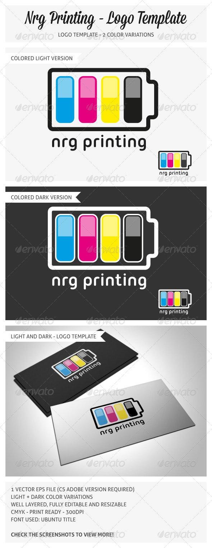 Nrg Printing Logo Template - Symbols Logo Templates