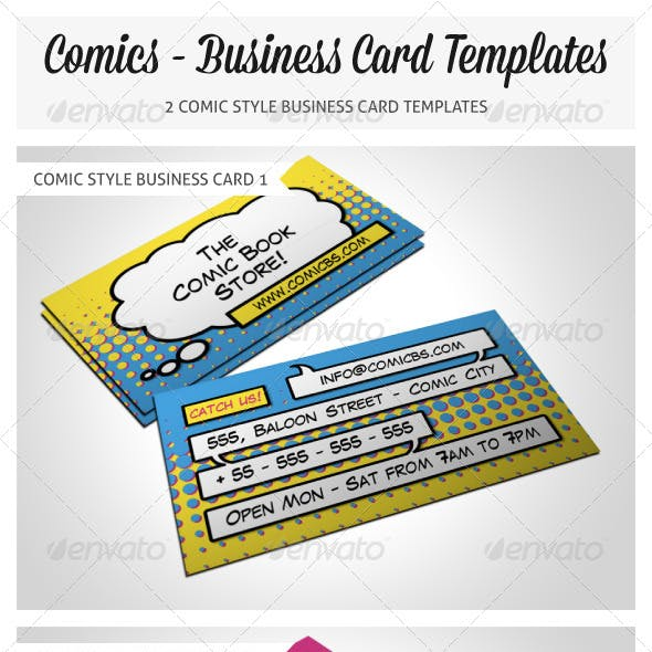 Comic Book Store Business Card