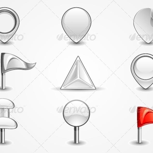 White Navigation Icons