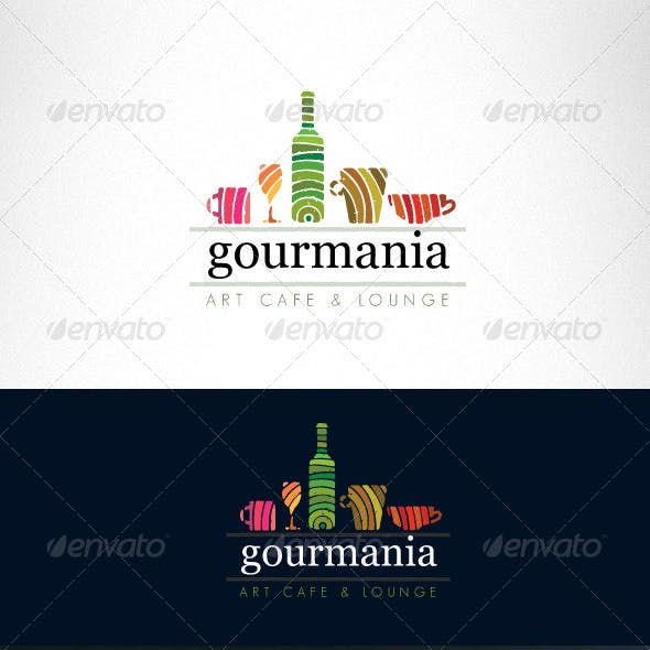 Art Cafe and Restaurant Creative Logo Template