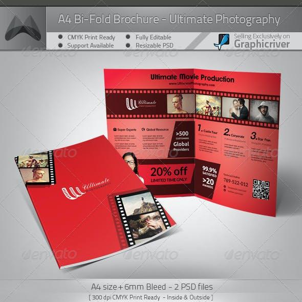 Ultimate Movie/Photography - A4 Bi-Fold Brochure