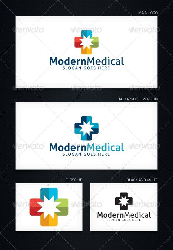 Modern Medical - Logo Template - Symbols Logo Templates