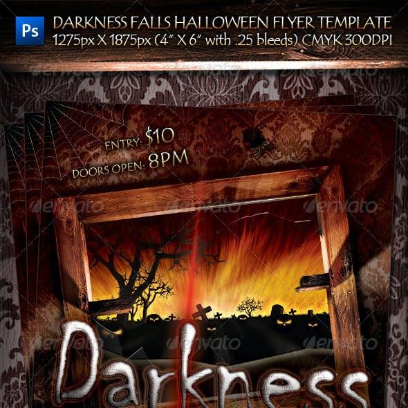 Darkness Falls Halloween Flyer Template