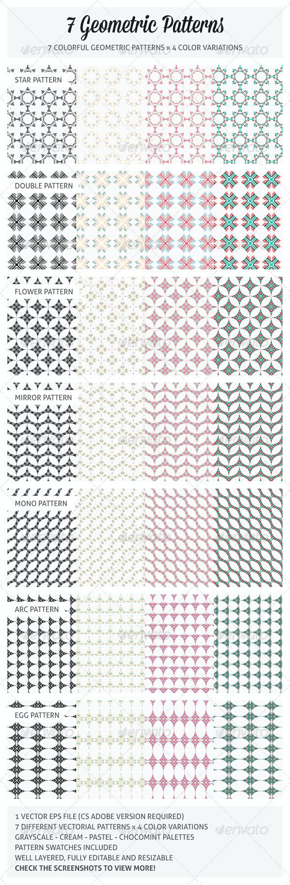 7 Geometric Patterns - Patterns Decorative