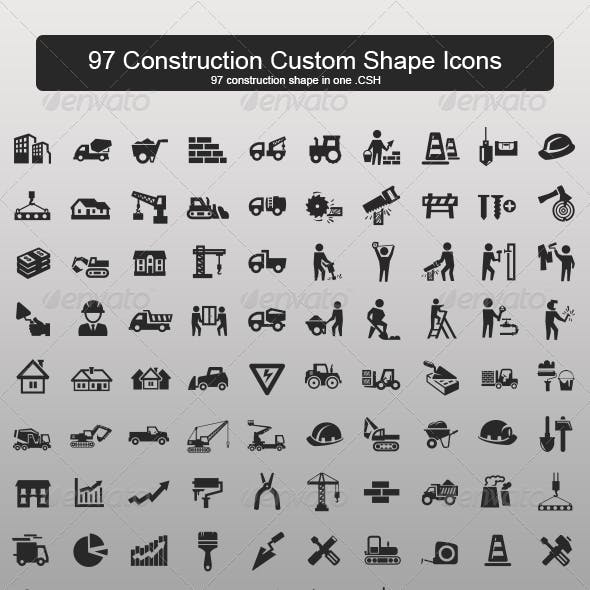 97 Construction Custom Shape Icons
