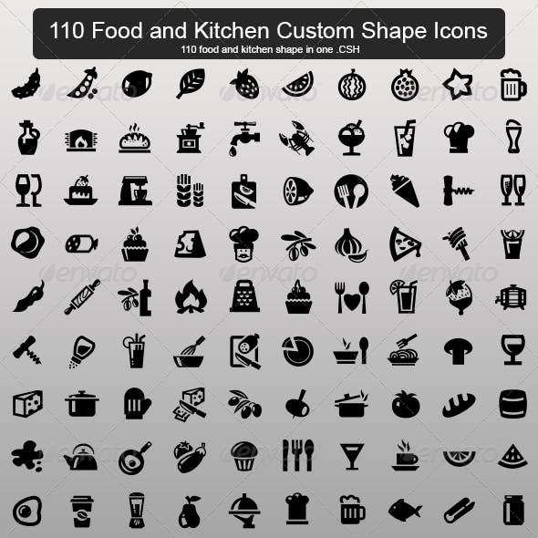 110 Food and Kitchen Custom Shape
