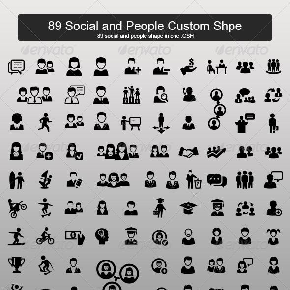 89 Social and People Custom Shape