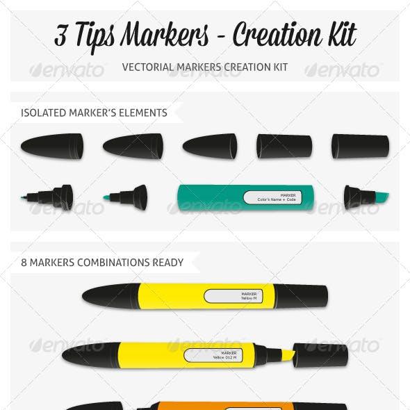 Pantone Markers Vector Pack