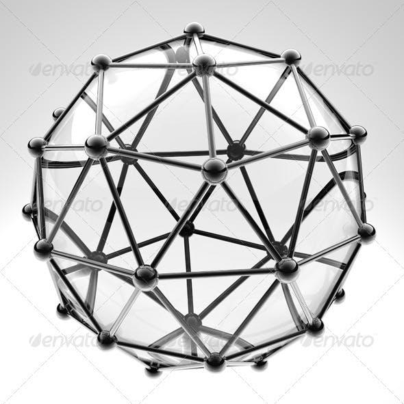 3 Scientific 3D Model of the Molecule an Atom