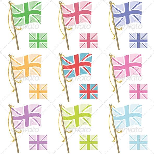 UK Flags - Decorative Symbols Decorative