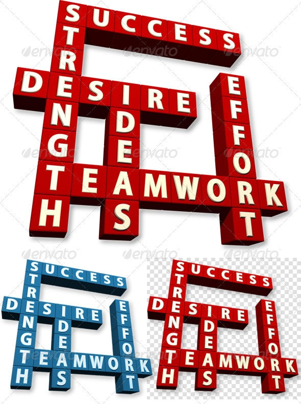 Success Crossword 3D - Miscellaneous Isolated Objects