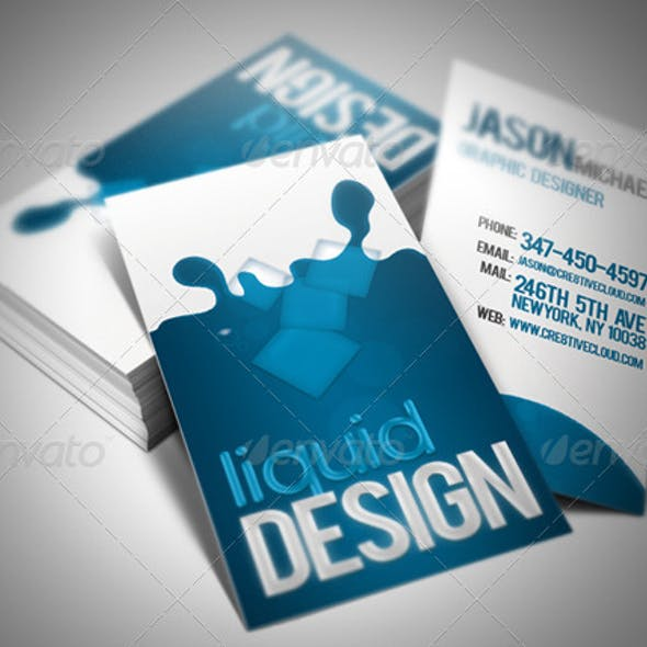 Liquid Card Business Card