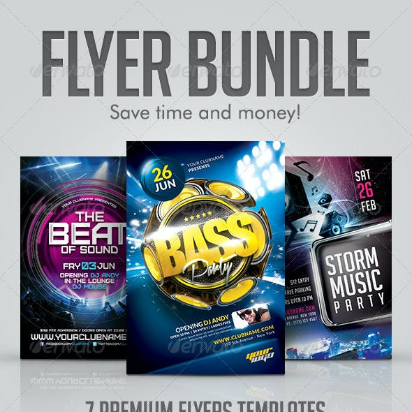 Club Party Flyer Bundle