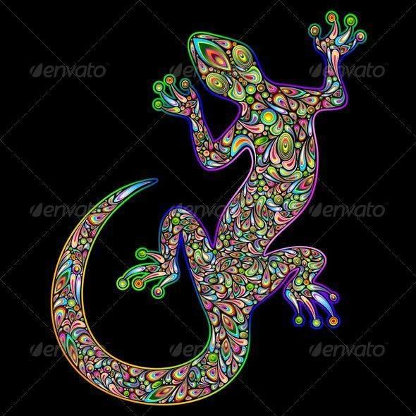 Gecko Psychedelic Art Design