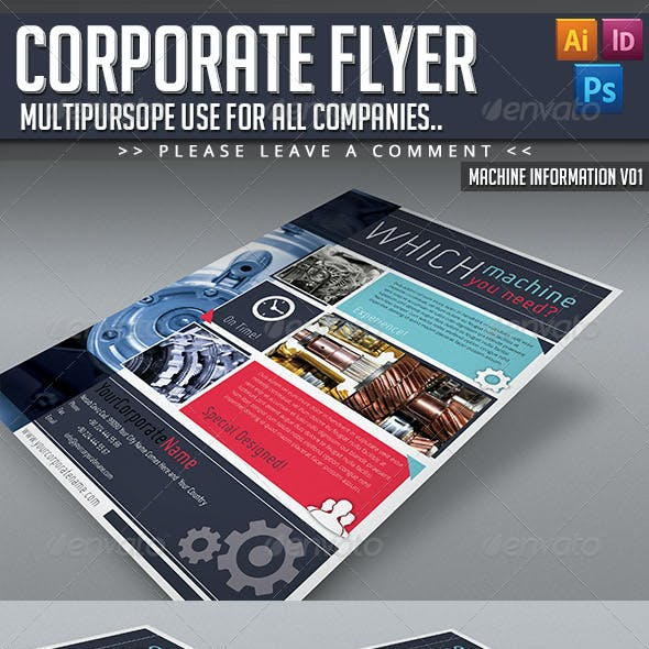 Corporate Flyer - Machine Informations V01