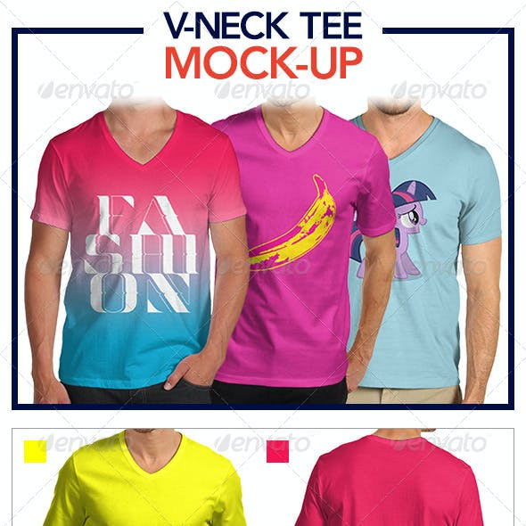 V-Neck Tee Mock-Up Pack