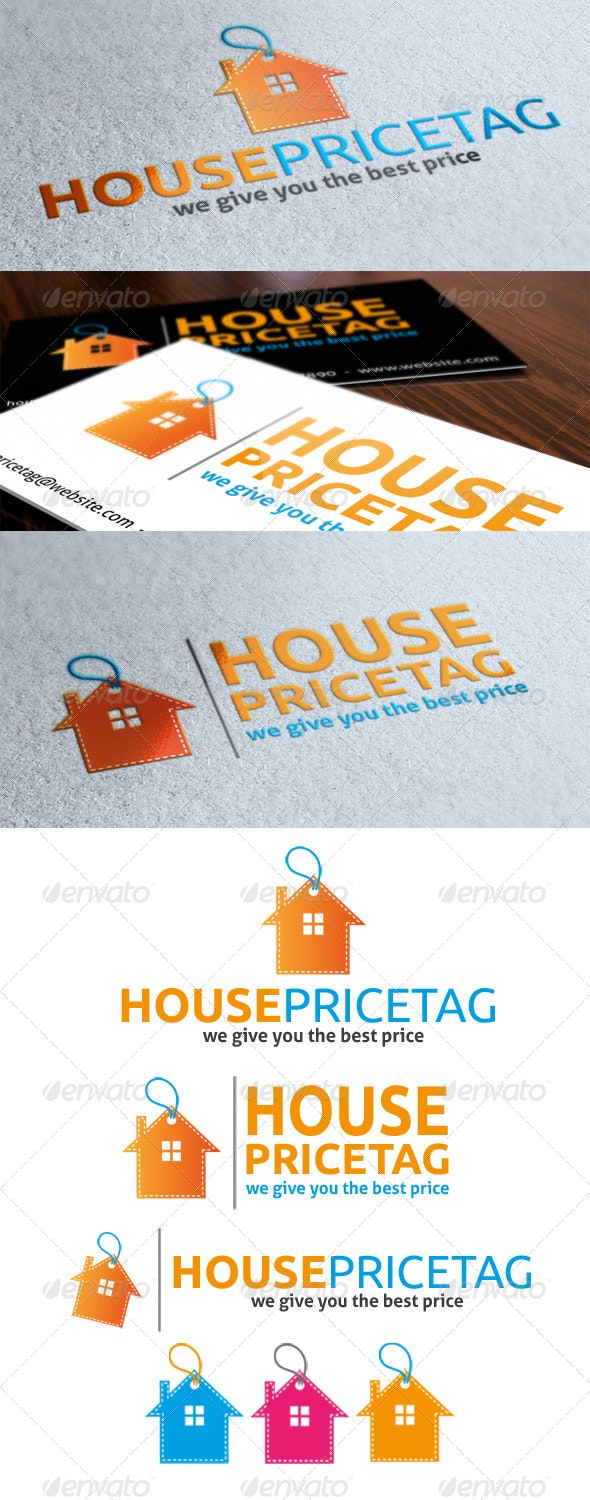 House Price Tag Logo By Dean70 Graphicriver