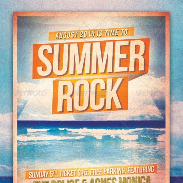 Summer Rock Flyer/ Poster Template