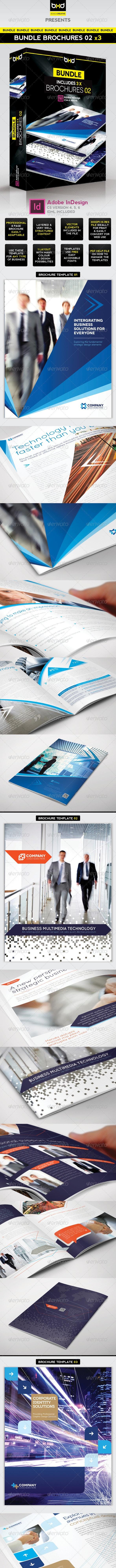Brochures Bundle - InDesign Layout 02 - Corporate Brochures