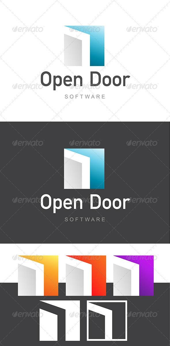 Open Door Software Development / Architecture Logo - Buildings Logo Templates