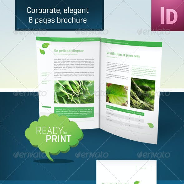 Corporate, Elegant - 8 Pages Brochure