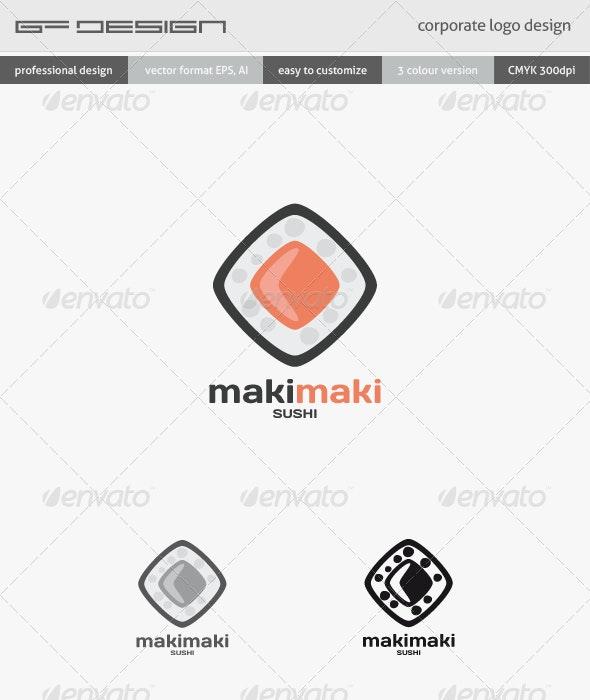 MakiMaki Sushi Corporate Logo Template - Objects Logo Templates