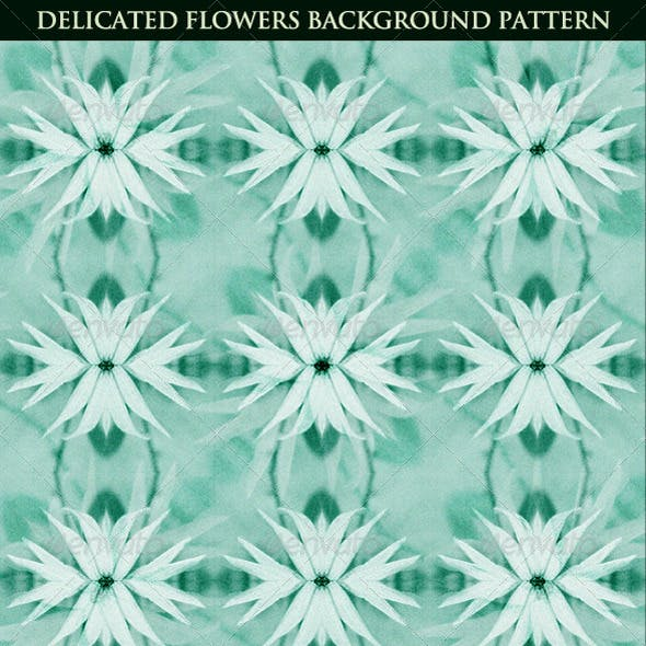 Delicated Flowers Background Pattern