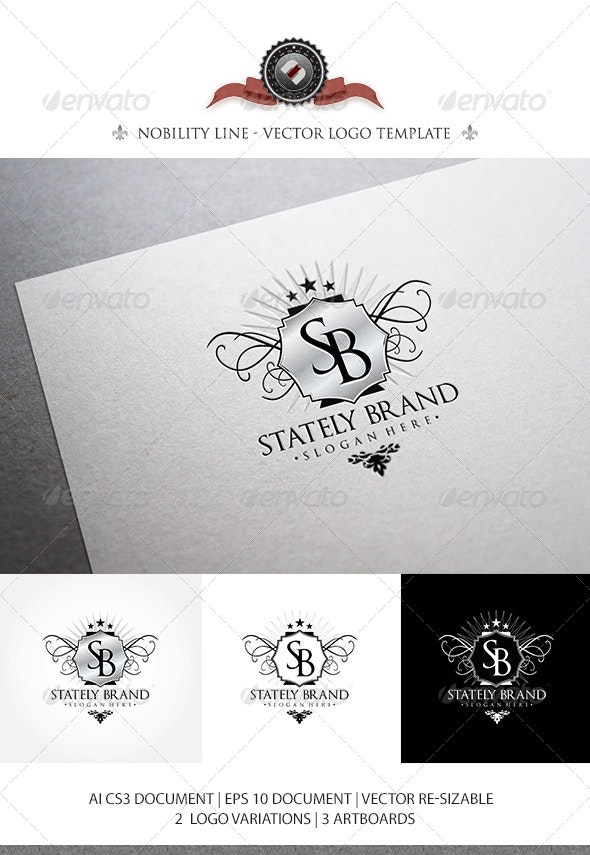 StatelyBrand - Logo Template - Crests Logo Templates