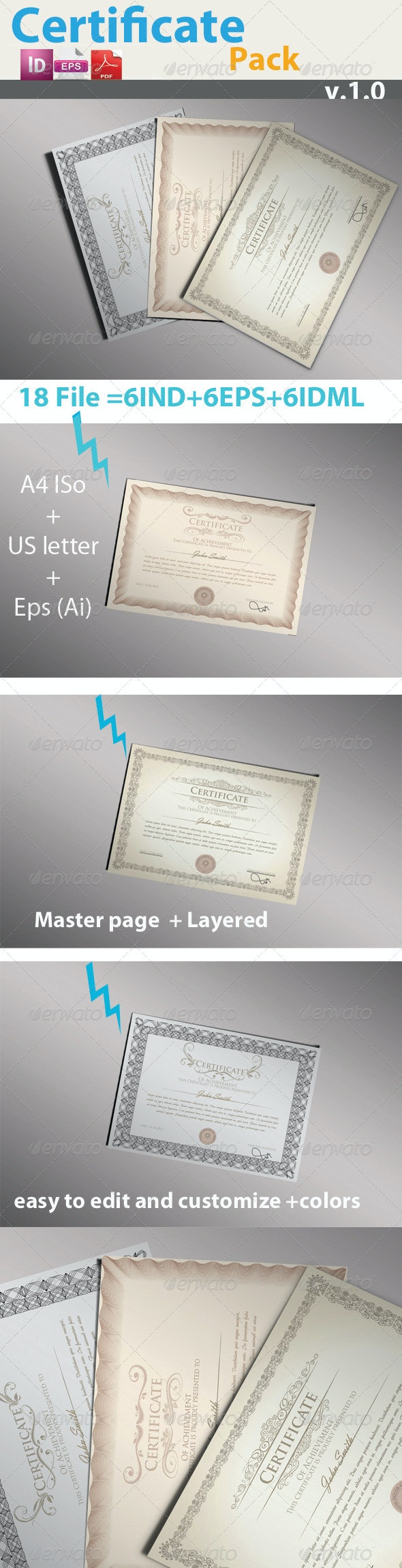 Pro Certificate Pack - Certificates Stationery