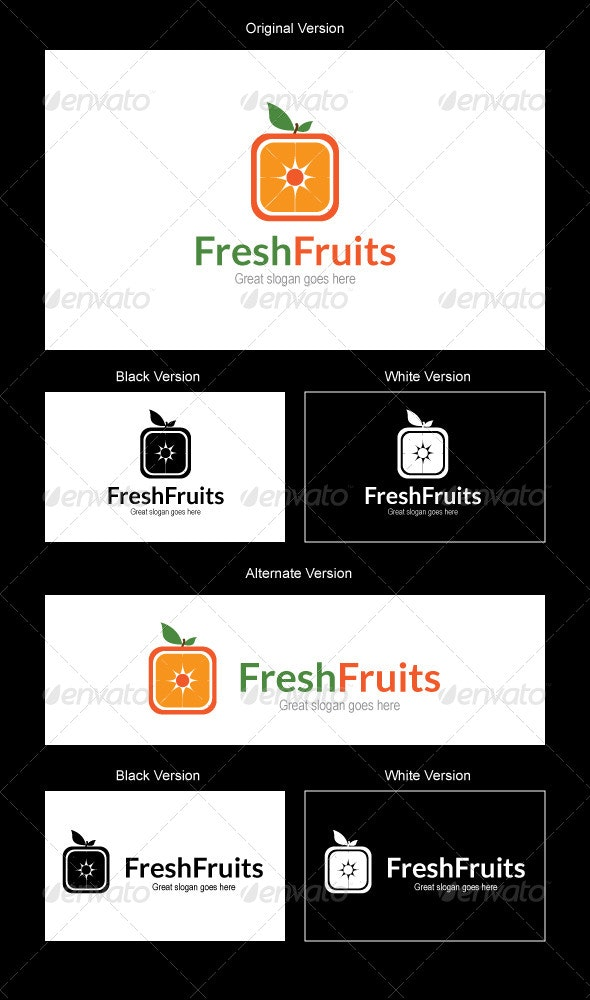 Fresh Fruits Logo Design