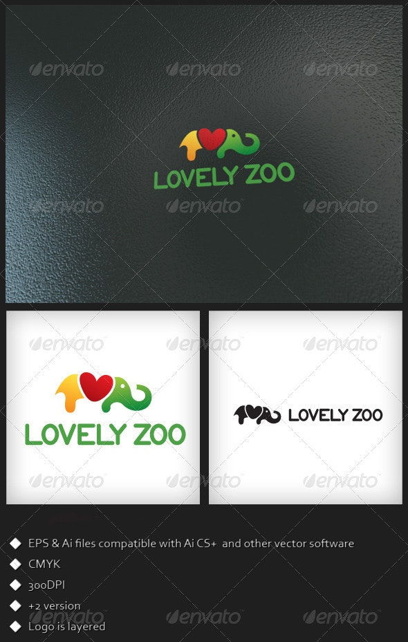 Lovely Zoo - Logo Template - Animals Logo Templates
