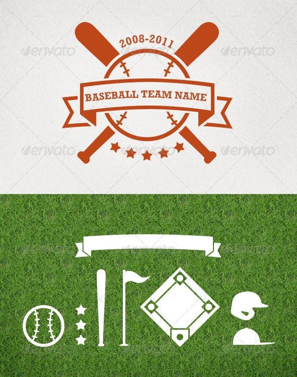 Baseball Vector Set - Sports/Activity Conceptual