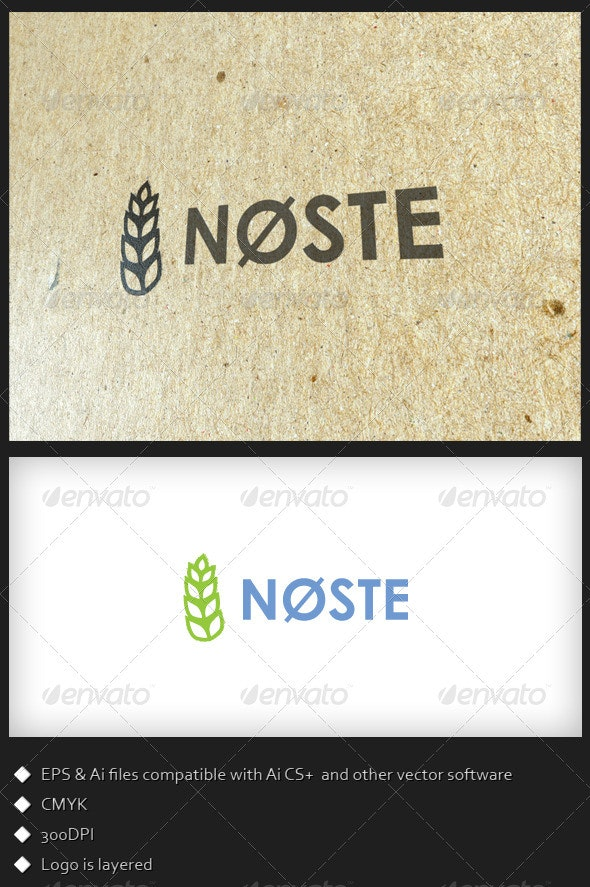 Nøste - Logo Template - Food Logo Templates