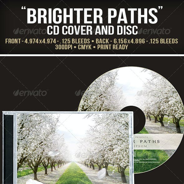 """""""Brighter Days"""" CD Cover and Disc"""