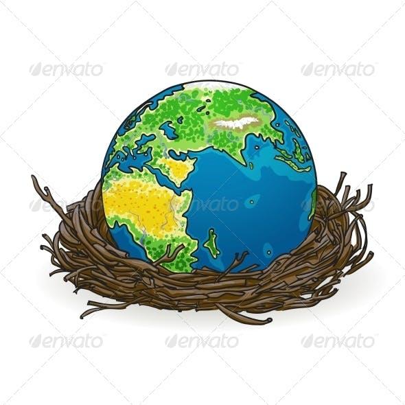 Earth in a Bird Nest