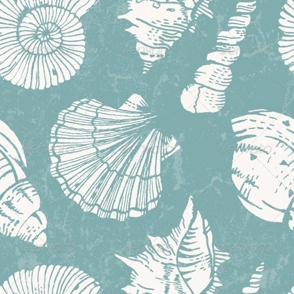 Pattern with Sea Shells
