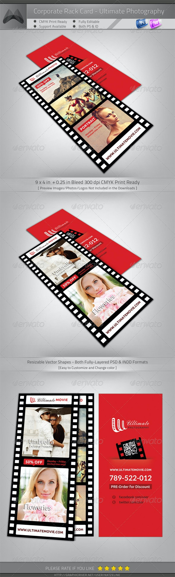 Ultimate Movie/Photography/Image - Rack Card Flyer - Corporate Flyers