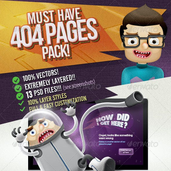404 Pages Pack