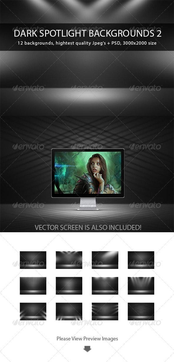 Dark Spotlight Backgrounds 2 - Abstract Backgrounds