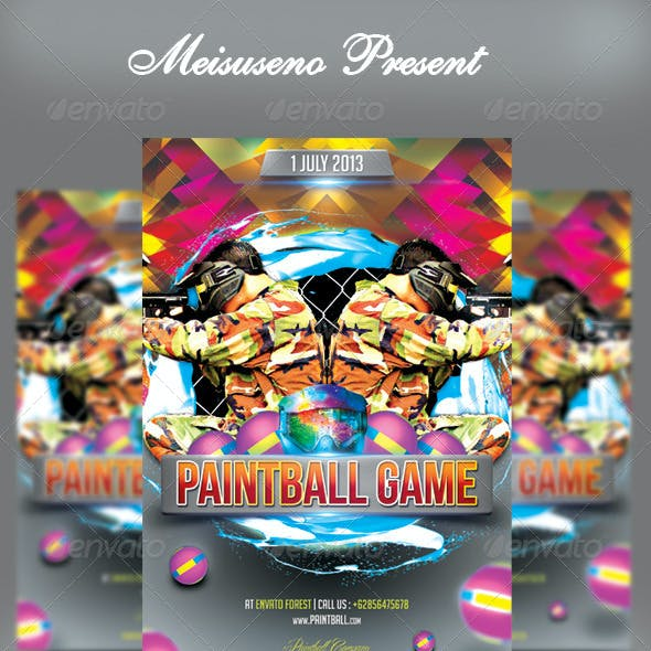 Paintball Game Flyer