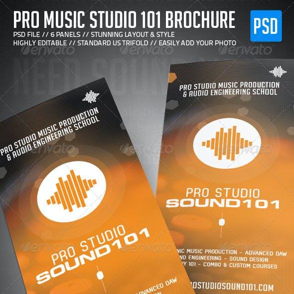 Pro Music Studio Trifold Brochure