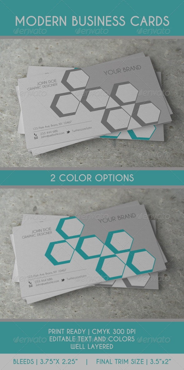 Geometric Style Business Card - Creative Business Cards
