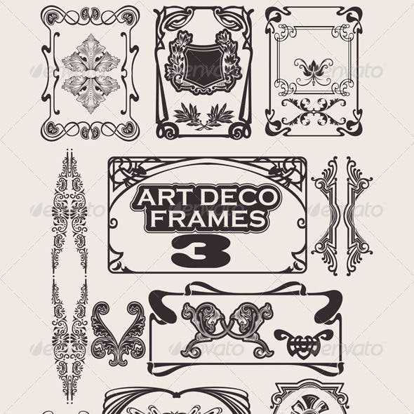 Set Of Art Deco Frames.