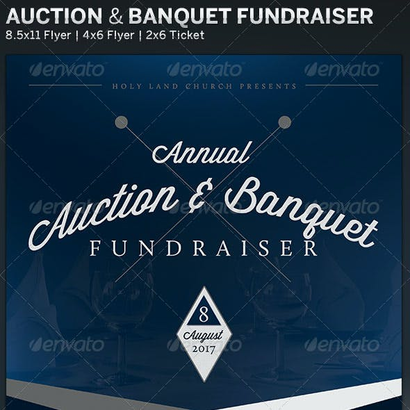 Auction & Banquet: Fundraiser Flyer Template