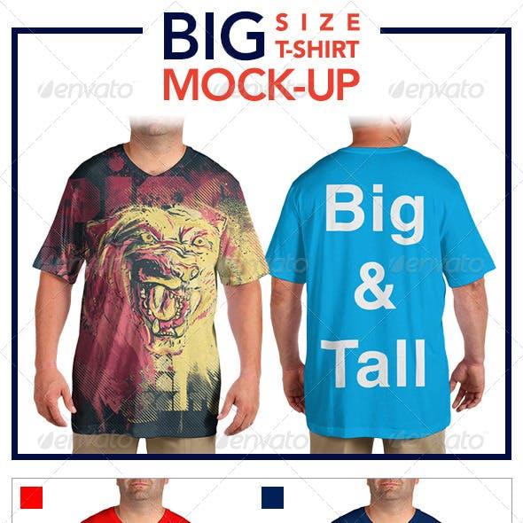 Big Size T-Shirt Mock-Up